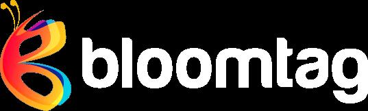kolorowe logo firmy BLOOMTAG